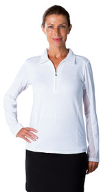 SanSoleil: Ladies UPF 50 SunGlow Zip Polo - 900433