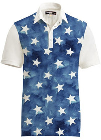 Loudmouth Golf Mens Polo - Fancy All Stars