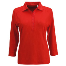 Nancy Lopez Golf: Women's 3/4 Sleeve Polo - Grace