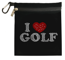 Titania Golf: Women's Accessory Bag - I Heart Golf