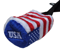 EverGolf: USA Flag Fuzzy Barrel Headcover