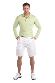 SanSoleil: Men's SolCool Button Polo 900820 (Key Lime) X-Large - SALE
