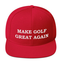 Make Golf Great Again Wool Blend Snapback Embroidered Cap