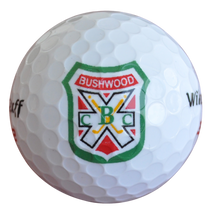 Bushwood Crest Logoed Golf Balls (3 Ball Sleeve) - White