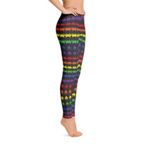 Invaders from Space Women's All-Over Leggings by ReadyGOLF