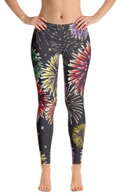 ReadyGOLF: Fireworks Women's All-Over Leggings