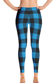 Lumberjack Blue Women's All-Over Leggings  by ReadyGOLF