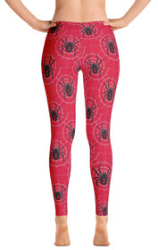 ReadyGOLF: Black Widow Red Women's All-Over Leggings