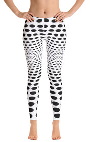 ReadyGolf: Womens All-Over Leggings - Sea of Holes