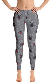 ReadyGOLF: Black Widow Grey Women's All-Over Leggings