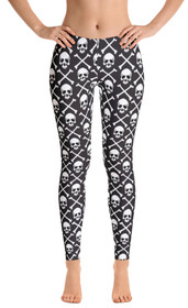 ReadyGOLF: Pirate Flag Women's All-Over Leggings
