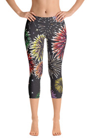 ReadyGOLF: Fireworks Women's Capri Leggings