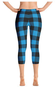 ReadyGOLF: Lumberjack Blue Women's Capri Leggings