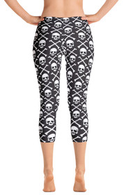 ReadyGOLF: Pirate Flag Women's Capri Leggings