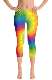 ReadyGOLF: Tie Dye Women's Capri Leggings