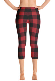 Lumberjack Red Women's Capri Leggings by ReadyGOLF