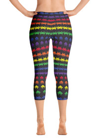 ReadyGOLF: Invaders from Space Womens Capri Leggings