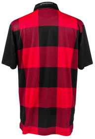 ReadyGolf: Mens Golf Polo Shirt - Lumberjack Red & Black