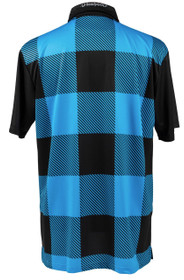 Lumberjack Black & Blue Mens Golf Polo Shirt by ReadyGOLF