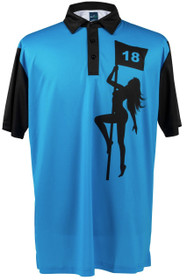 Pole Dancer (Blue)Mens Golf Polo Shirt by ReadyGOLF