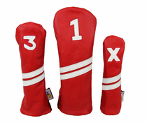Sunfish: Leather Headcovers Set - Red & White