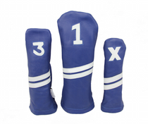 Sunfish: Leather Headcovers Set - Blue & White