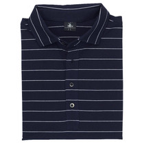 Fairway & Greene: Men's Berra Stripe Natural Tech Jersey Polo