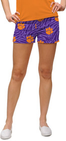 Loudmouth Golf Womens Mini Shorts - Clemson Paw Power™*