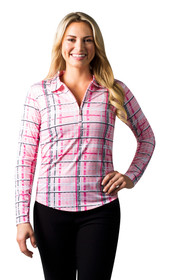 SanSoleil: Ladies UPF 50 SolCool Zip Polo - 900462