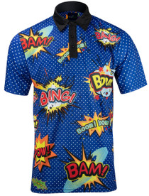 Big Bang Boom Mens Golf Polo Shirt by ReadyGOLF