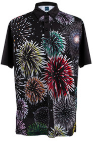 Fireworks Mens Golf Polo Shirt by ReadyGOLF
