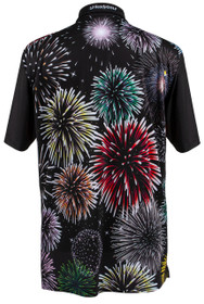 ReadyGOLF: Fireworks Mens Golf Polo Shirt