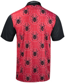Black Widow Red Mens Golf Polo Shirt by ReadyGOLF