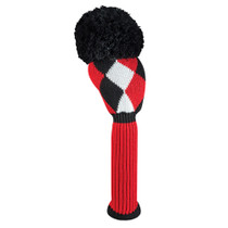Just 4 Golf: Driver Headcover - Diamonds - Red, Black & White