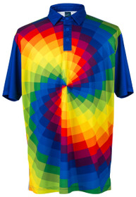 ReadyGolf: Mens Golf Polo Shirt - Tie Dye