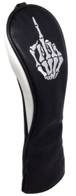 ReadyGolf: Embroidered Hybrid Headcover - Skeleton Bone Middle Finger