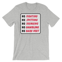 ReadyGolf: Bushwood Country Club No Fighting Sign T-Shirt by ReadyGOLF