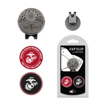 Team Golf US Marines 2 Ball Marker Hat Clip Set