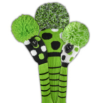 Just 4 Golf: Large Multi Dot Headcover Set - Lime, Black, & White