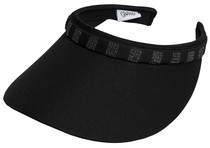 Glove It: Bling Slide On Golf  Visor - Black Crystal Square