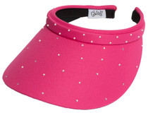 Glove It: Bling Slide On Golf Visor - Pink