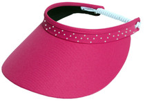 Glove It: Bling Coil Golf Visor - Pink