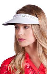Tail Activewear: Women's Embellished Rhinestone Visor - White