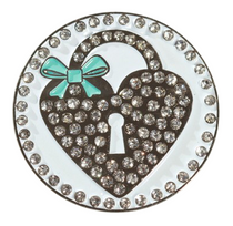 Abigale Lynn Ball Marker & Hat Clip - Heart Locket