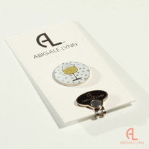 Abigale Lynn Ball Marker & Hat Clip - Wine Glass