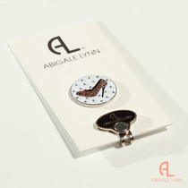 Abigale Lynn Ball Marker & Hat Clip - Cheetah High Heel