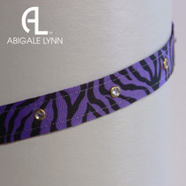 Abigale Lynn Visor Band - Purple Zebra