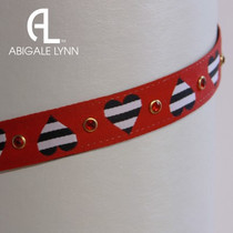 Abigale Lynn Visor Band - Stripe Black Heart