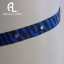 Abigale Lynn Visor Band - Royal Zebra