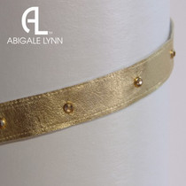 Abigale Lynn Visor Band - Gold Metallic